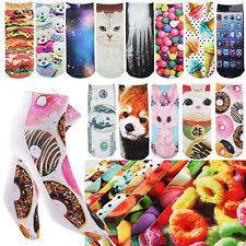 2015 New Men & Women Fashion Cotton 3D Printed Cartoon Animals  Ankle Socks IMAX