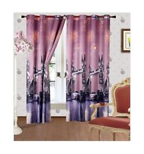 3D Photo Effect Ready Made Eyelet Curtains Ring Top New York London City 1 PCS
