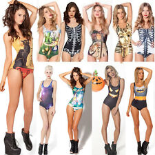Galaxy Print Digital Pattern Swimwear One-Piece Beach Monokini Swimsuit Bikini