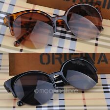Unisex Donna Retro Shades Designer round Cat Eye Sunglasses Occhiali da Sole