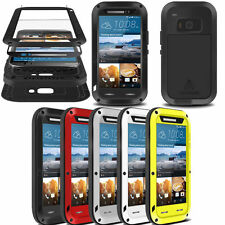 Love mei Waterproof Shockproof Aluminum Gorilla Glass Metal Case Cover For HTC