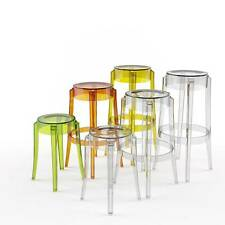Charles Ghost Stool By Philippe Starck for Kartell in Clear and Smoke