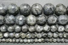 Natural Larvikite Labradorite Gemstone Faceted Round Beads 4mm 6mm 8mm 10mm 16''