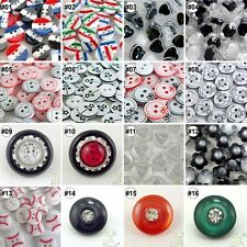 20pcs Mixed Resin Sewing Round Flower Heart Rhinestone Buttons Lots Cards Craft