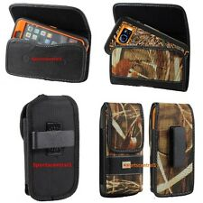 Carrying Holster Pouch w/Swivel Belt Clip For Large Smart Phones To Fit Otterbox