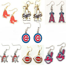Officially Licensed MLB Team Logo Charm Dangle Earrings Jewelry (pick your team)