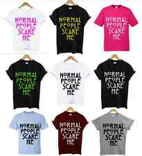 """Normal People Scare Me"" Evan Peters, T Shirt, Top, tee, Indie, Hipster unisex"