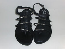 Women's Relaxed Fit: Strappy Sandals Black 38385 Cali