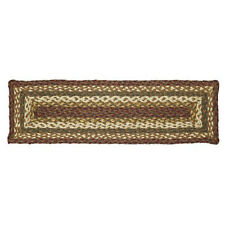 Tea Cabin Braided Jute Stair Tread Set - Rectangular Stair Treads by VHC Brands