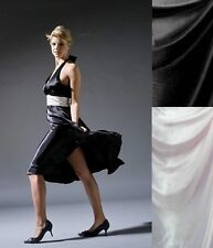 100 % Pure Silk Satin Charmeuse Fabric Black / White choices 16momme 135cm Wide