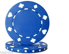 Lot of 25 BLUE Suited 11.5 gram Poker Chips Low/Free Shipping Options