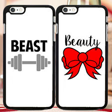 CUTE Couple Phone Case, Beast & Beauty For iPhone, Note, Galaxy S - FREE GIFT!