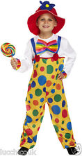 KIDS BOYS GIRLS CHILDRENS CIRCUS CLOWN COSTUME FANCY DRESS COMPLETE OUTFIT