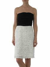 JS House Fraser black white rose evening prom dress UK 8 10 New rrp £150