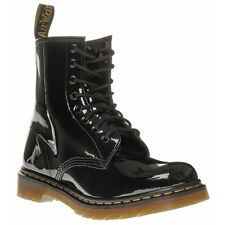 New Womens Dr. Martens Black 1460 Leather Boots Ankle Lace Up