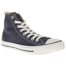 New Mens Converse Blue All Star Hi Canvas Trainers Lace Up