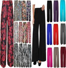NEW WOMENS LADIES PLUS SIZE FLORAL PRINT PALAZZO WIDE LEG TROUSERS PANTS UK 8-26