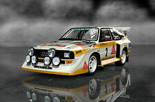 SUPERSIZE A0 Audi-Sport-Quattro AQ1 RALLY CAR POSTER PRINT +A1,A2,A3,A4 SIZES