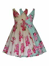 Rose Bouquet 40's 50's Vtg Full Circle Party Prom Bridesmaid Tea Dress New 8-20