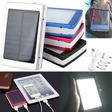 5000/10000/30000/50000mAh USB Solar Power Bank Mobile External Battery Charger