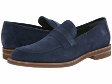 Calvin Klein Men's Shoes Yurik High Suede Dark Blue Loafers Slip On F0632