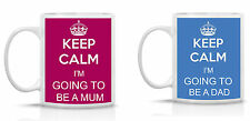 KEEP CALM I'M GOING TO BE A DAD/MUM MUG/SET OF 2 MUG/PRESENT/BABY SHOWER GIFT