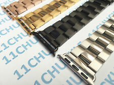 Stainless Steel Metal Watch Band Strap + Adapter For Apple Watch Iwatch 38 42mm