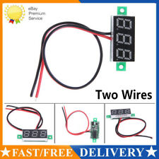 Two Wire 0.28'' LCD Digital DC Voltmeter Gauge LED Voltage Panel Meter Detector