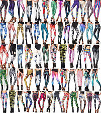 Femmes 3D numérique Punk Digital Graphic Printed Pattern Leggings Tights Pants