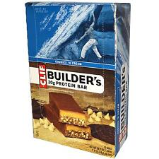 Clif Builder's Natural Nutrition PROTEIN BAR - BOX OF 12 BARS  - Choose Flavor