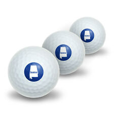 Alabama AL Home State Novelty Golf Balls 3 Pack