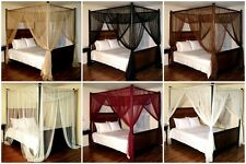 4 Poster Bed Sheer Panel Canopy Net Lace Mosquito Bedroom Insect Curtain Netting