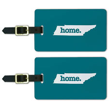 Tennessee TN Home State Luggage Suitcase ID Tags Set of 2