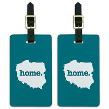 Poland Home Country Luggage Suitcase ID Tags Set of 2