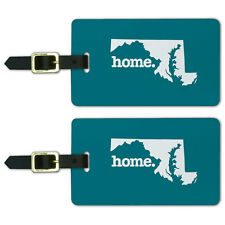 Maryland MD Home State Luggage Suitcase ID Tags Set of 2