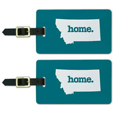 Montana MT Home State Luggage Suitcase ID Tags Set of 2