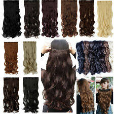Real Natural Long 3/4 Full head clip in hair extensions clips on hair Hallowmas