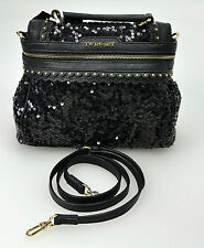 TWIN-SET BORSA  MINI CECILE TRAP. DONNA-WOMAN HAND BAG+SHOULDER BELT NERO-BLACK