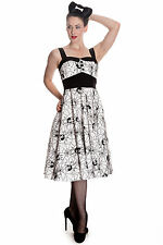 Hell Bunny White Black Gothic Widow Spider Halloween Rockabilly Dress XS-XL