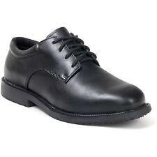 FREE SHIP BLACK LEATHER Oxford Resaurant Waiter Safety Shoes