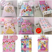 DISNEY PRINCESS DUVET COVER BEDDING SETS – SINGLE, DOUBLE & JUNIOR SIZES