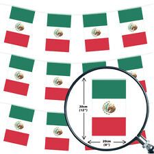 MEXICAN BUNTING 33FT LARGE FLAG DECORATION 20 FLAGS 10 METRES FIESTA PARTY