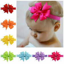 Grosgrain Princess Kids Baby Girl Toddlers Hair Band Bow Lovely Headbands Access
