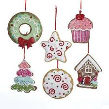 NEW Gingerbread Cookie Christmas Ornaments House Wreath Star Cupcake Tree