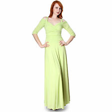 Evanese Women's Elegant Formal Long Evening Dress with 3/4 Sleeves Ball Gown