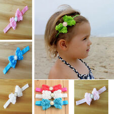 Girl Kid Rose Bow Lace Flower Elastic Headband  Newborn Hairband Baby Darling