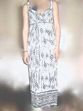 NEW ANN TAYLOR Ikat Print Linen Crossover Sleeveless Maxi Dress  NWT $130.00