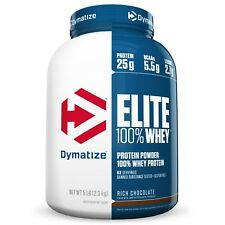 Dymatize ELITE 100% WHEY PROTEIN 5 lbs - 63 Servings - PICK FLAVOR