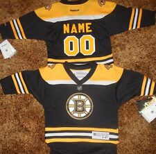 Boston Bruins Toddler Kids Reebok NHL Hockey Jersey add  name & number