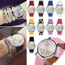 Novelty Women Leather Watch Who Cares I am Late Anyway Letter Quartz Watches